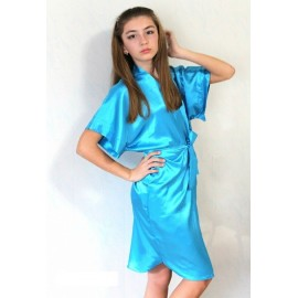 132103 Angelica Midi Monochrome, Халат женский шелковый